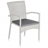 Alexander Rose Stacking Weave Armchair Cushion - Charcoal