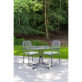 Alexander Rose Portofino 2 Seat Armchair Square Set - Green Stripe