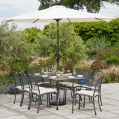 Alexander Rose Portofino 8 Seat Rectangular Set with Parasol