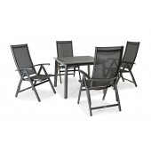 Kettler Surf 4 Seat Dining Set with Recliner Armchairs