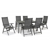 Kettler Surf 6 Seat Dining Set with Recliner Armchairs