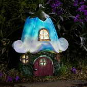 Bluebell Cottage Solar Powered Fairy House by Smart Garden