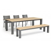 Kettler Elba 6 Seat Dining Set with Chairs and Benches