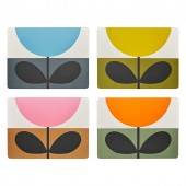Orla Kiely Set of 4 Placemats - Sunflower