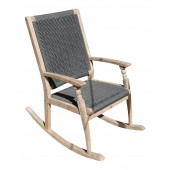 LG Outdoor Panama Rope and Eucalyptus Wood Single Rocker