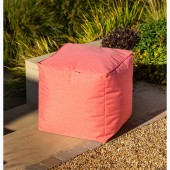 Hartman Cube Weatherproof Pouffe - Red Coral