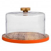 Orla Kiely Wooden Serving Dome