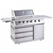 Outback Signature II 4 Burner Hybrid Gas BBQ - Stainless Steel