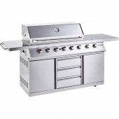 Outback Signature II 6 Burner Hybrid Gas BBQ - Stainless Steel