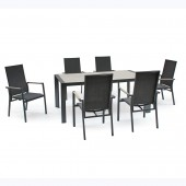 Kettler Surf Active 6 Seat Dining Set with Multi-Position Dining Chairs